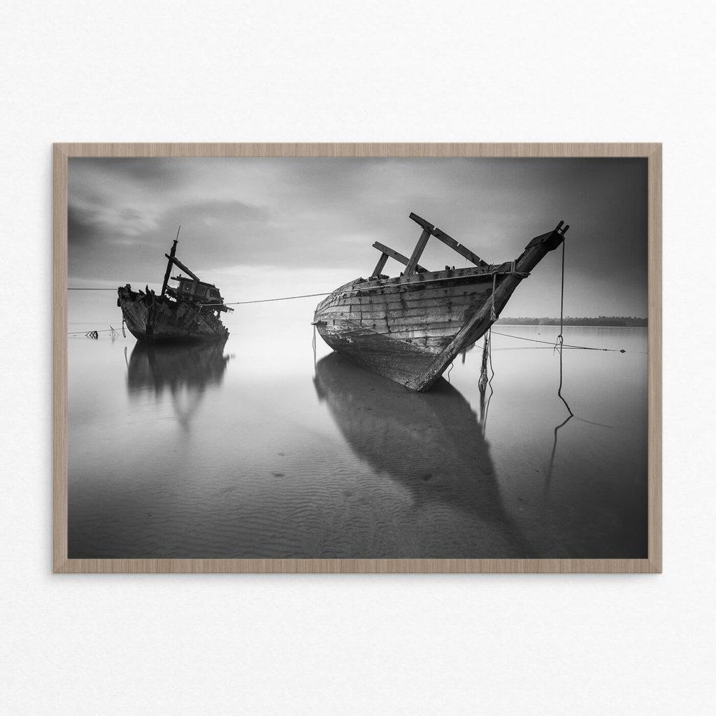 Plakat, hav, skibe