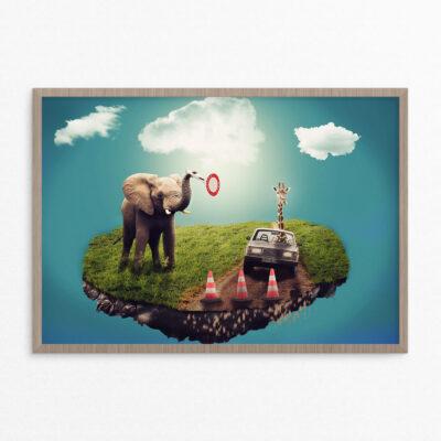 Plakat, fantasi, elefant