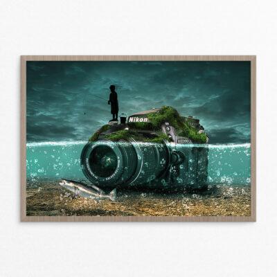 Plakat, fantasi, foto