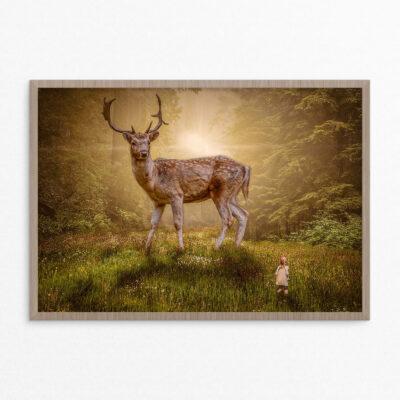 Plakat, fantasi, hjort