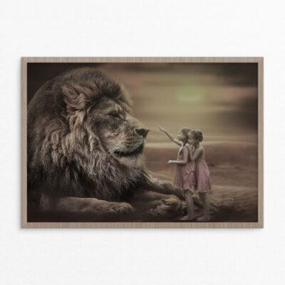 Plakat, fantasi, løve