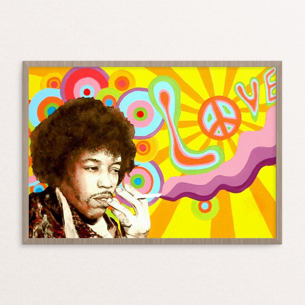 Plakat, hippie, JH A3