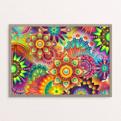 Plakat, hippie, blomster