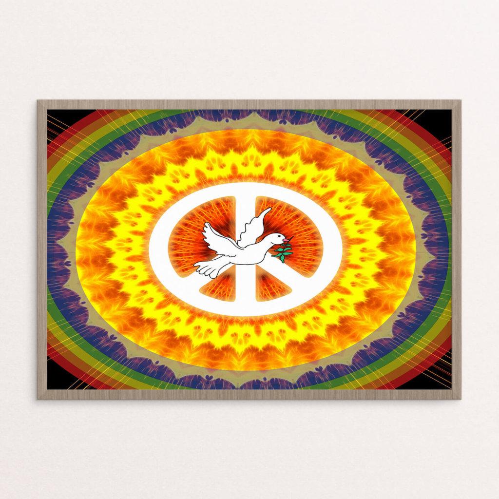 Plakat, hippie, due