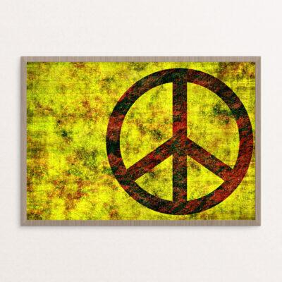 Plakat, hippie, fred