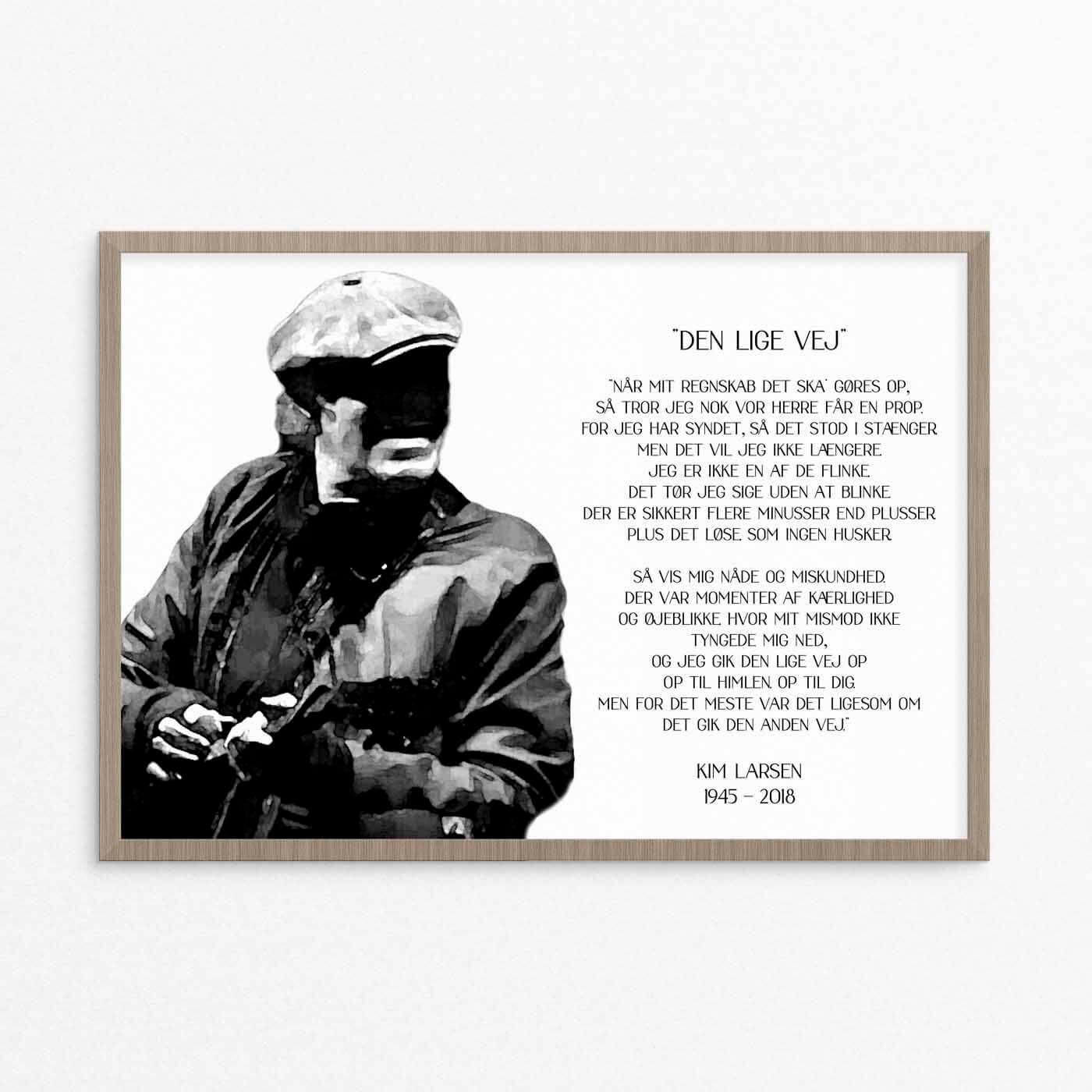 kim larsen, plakat, citat
