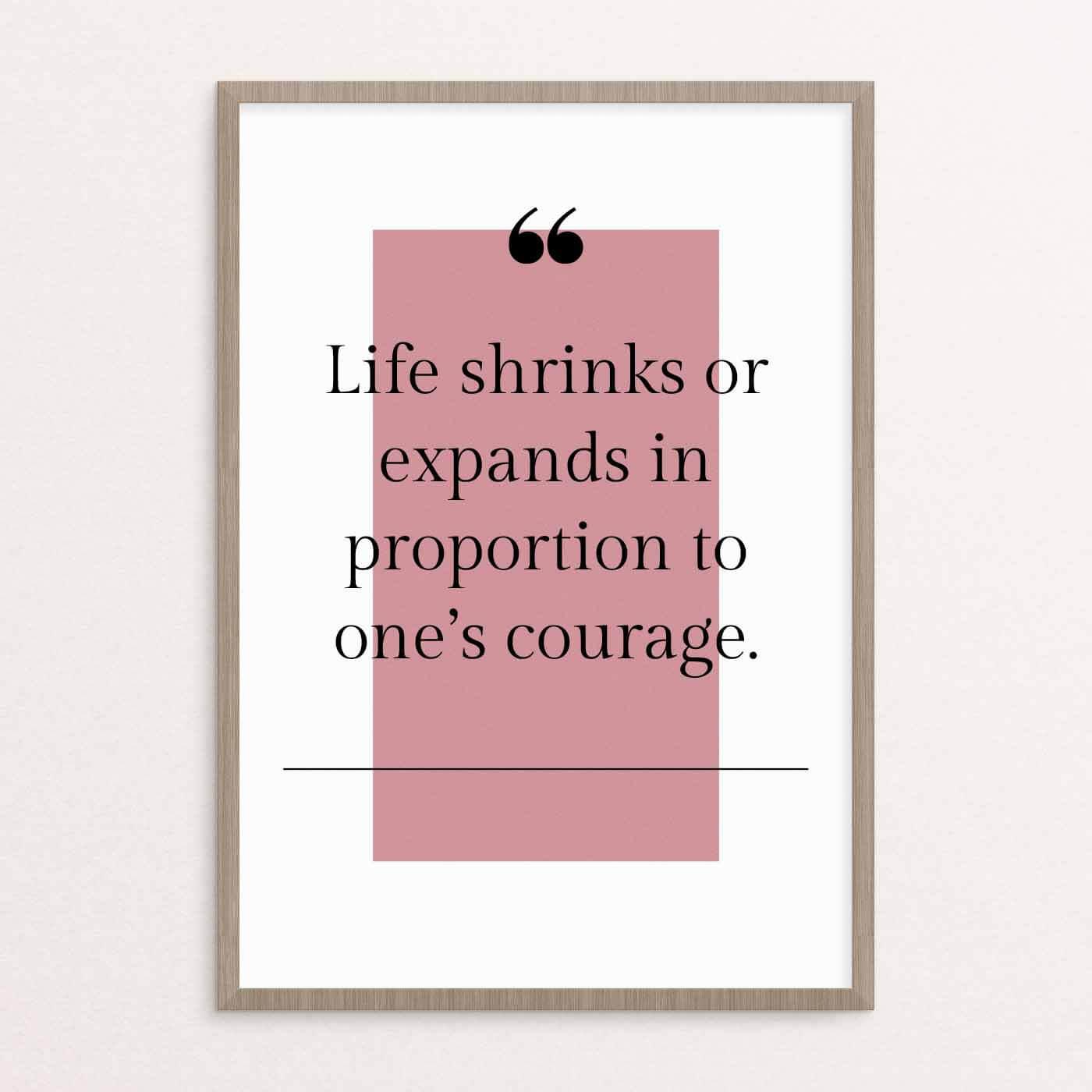 plakat, citat, rosa, lyserød, 2020