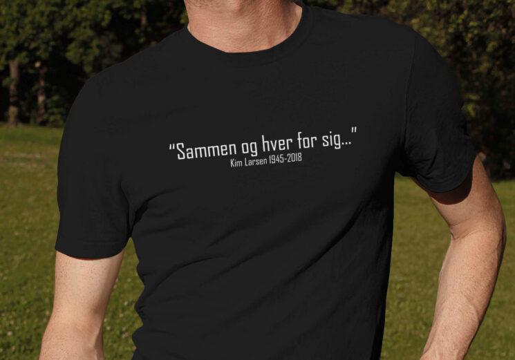 t-shirt, tshirt, t shirt, tekst, kim larsen, sammen og hver for sig, sammen